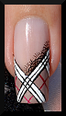 nail art french burberry