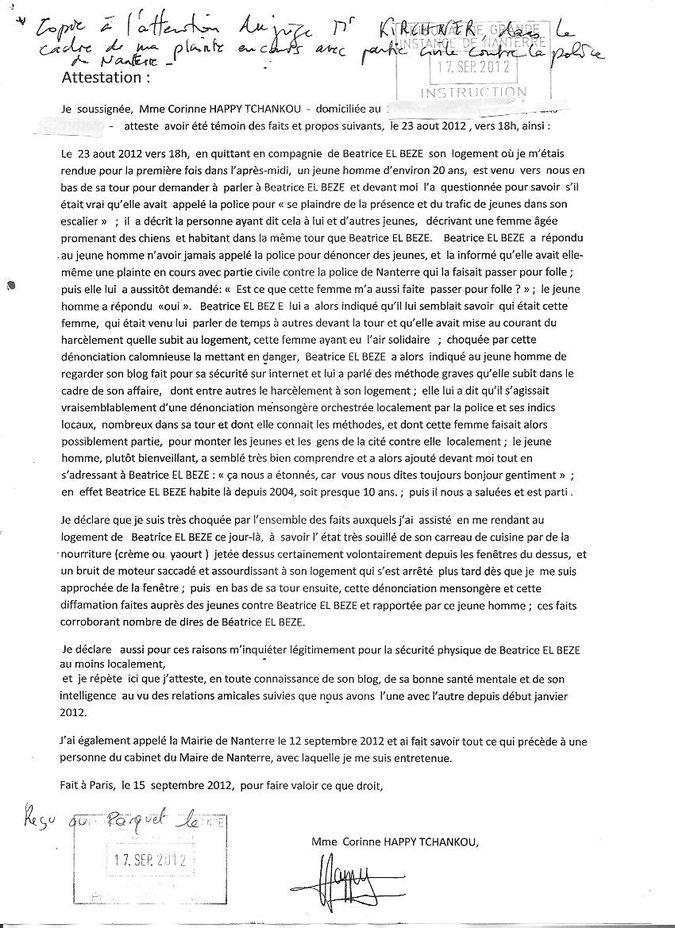 modele de lettre temoignage bon pere Mafia criminelle Police /OPDHLM / Mairie Nanterre : Echec et mat  modele de lettre temoignage bon pere