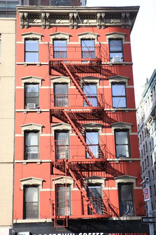 immeuble rouge à New York