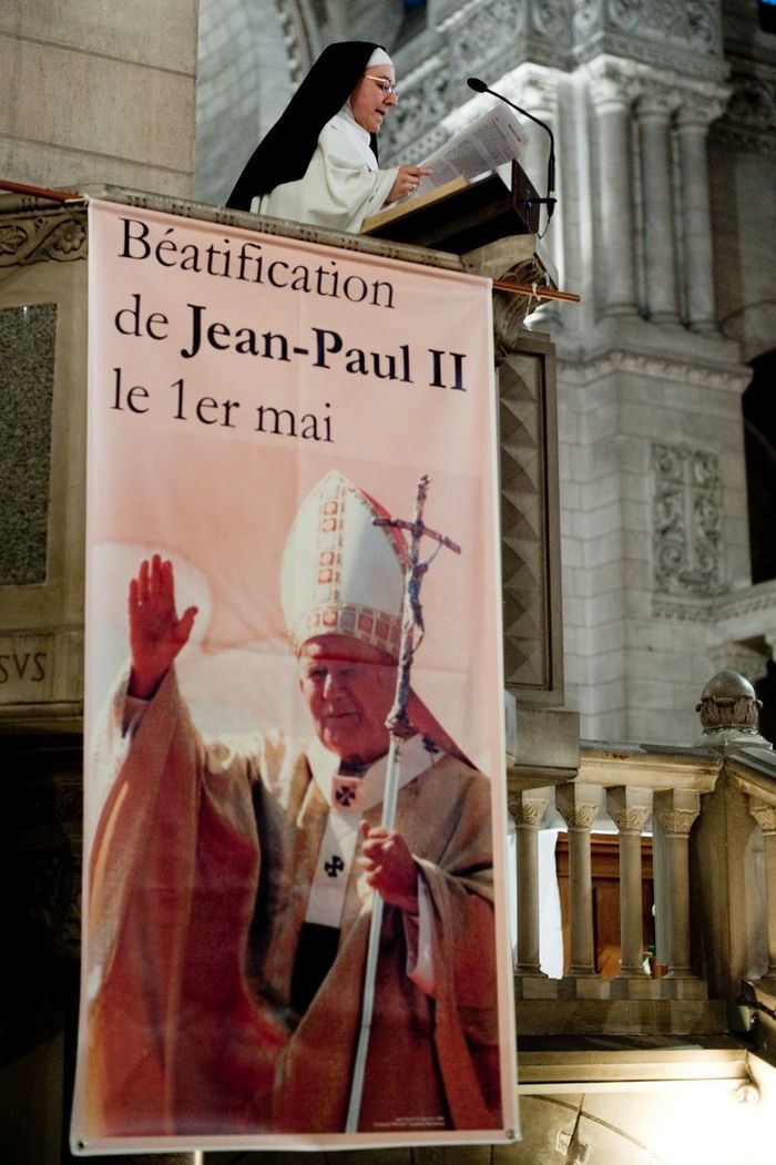 beatification de JP II par olivier pain