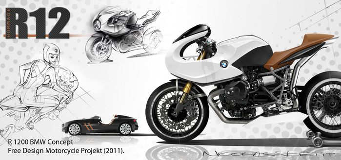bmw cafe racer R 1200 HP2 Sport