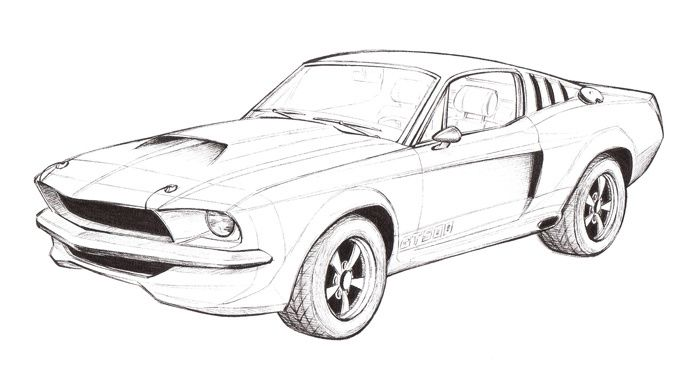 free coloring pages of d gt500 shelby