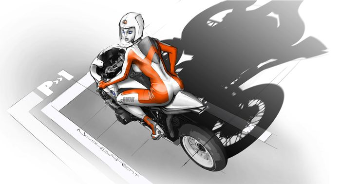 rough r1200 cafe racer bmw hommage concept with pinup