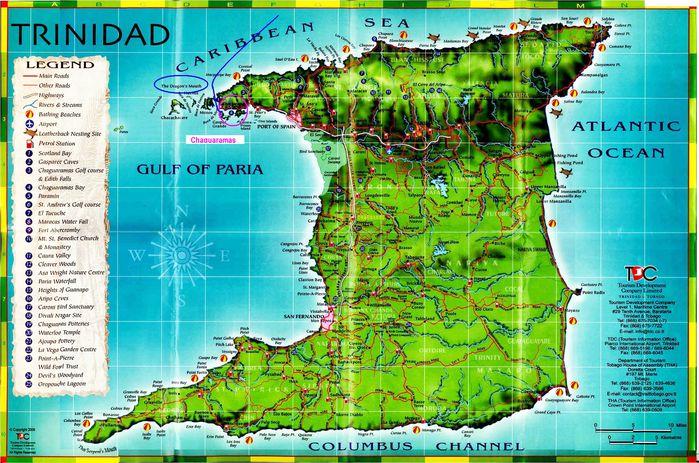 Carte Trinidad Chaguaramas