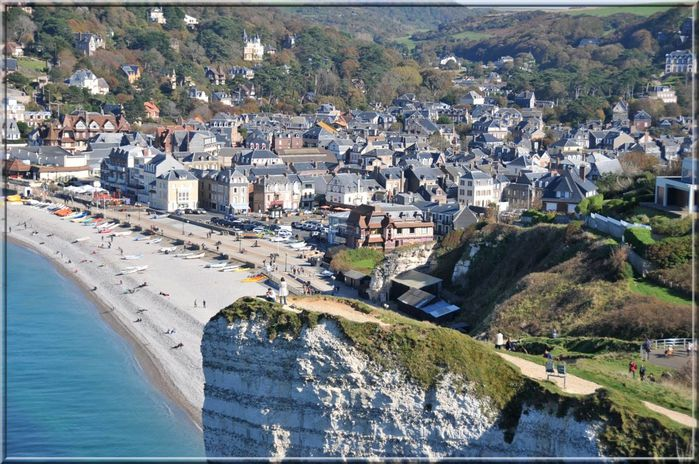 etretat ville - Photo