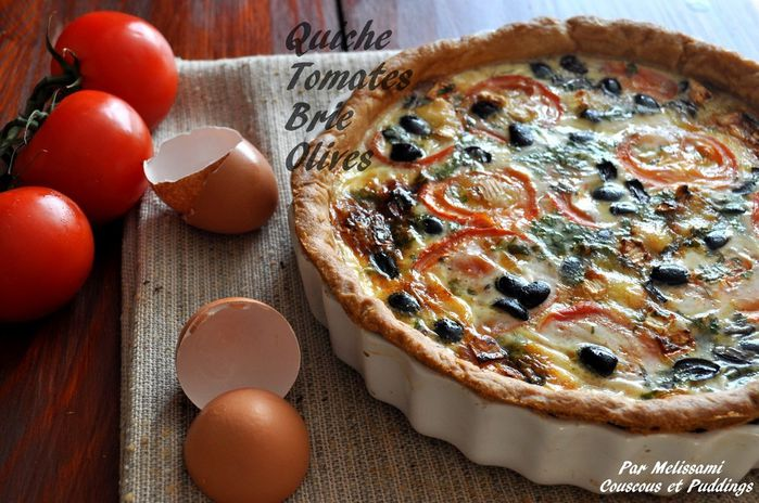 quiche tomate brie olives