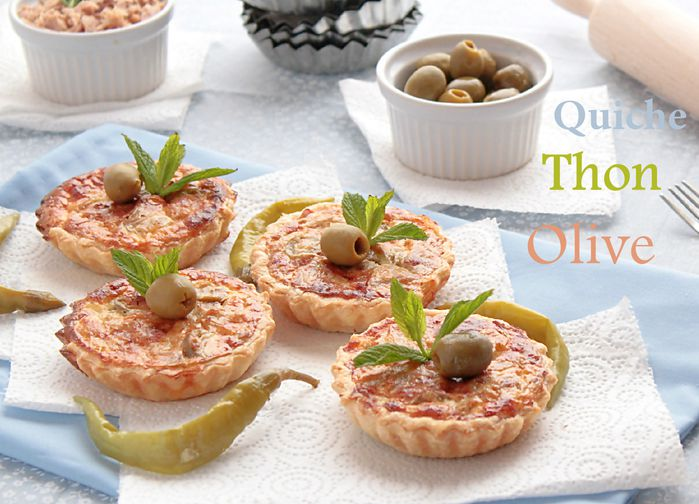 Mini quiche thon olive for Entree simple pas cher