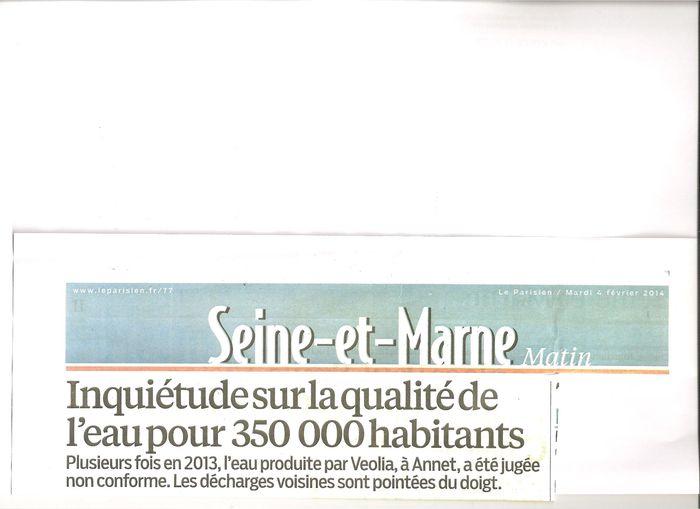 Inquietude sur la qualite de l 39 eau du robinet produite par - Qualite de l eau du robinet en france ...