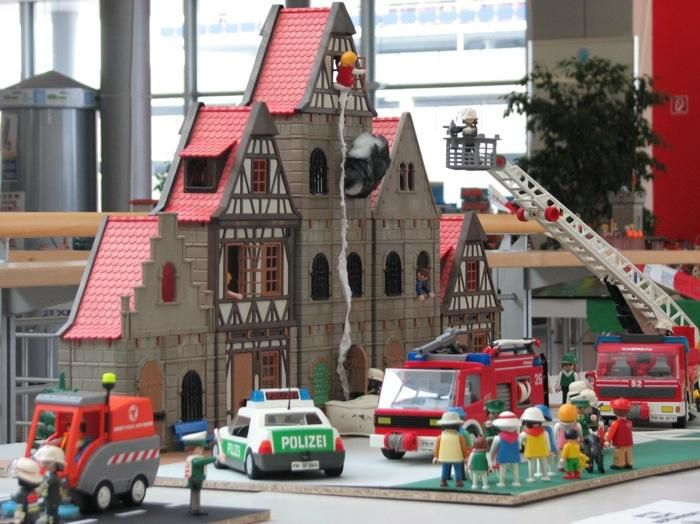 diorama palymobil pompiers a