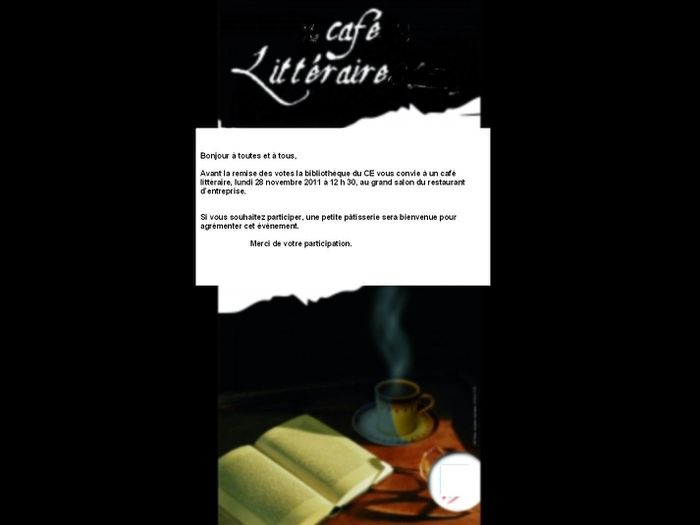 invitation cafe litt+®raire 2011