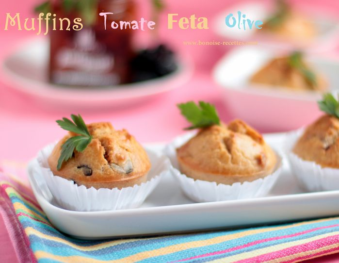 muffins sales olives feta tomate sechee