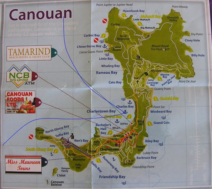 Carte Grenadines Canouan 1 copie