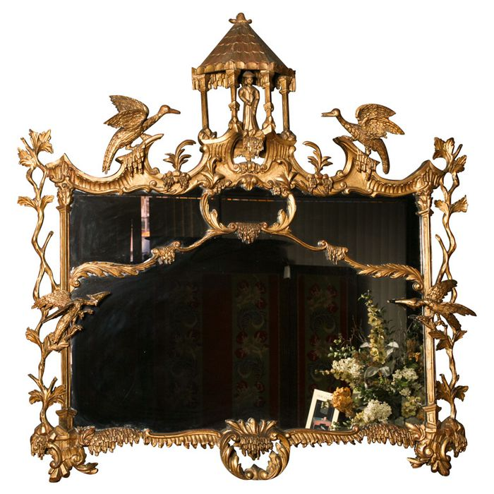 An English 19th century Chippendale designed nirror