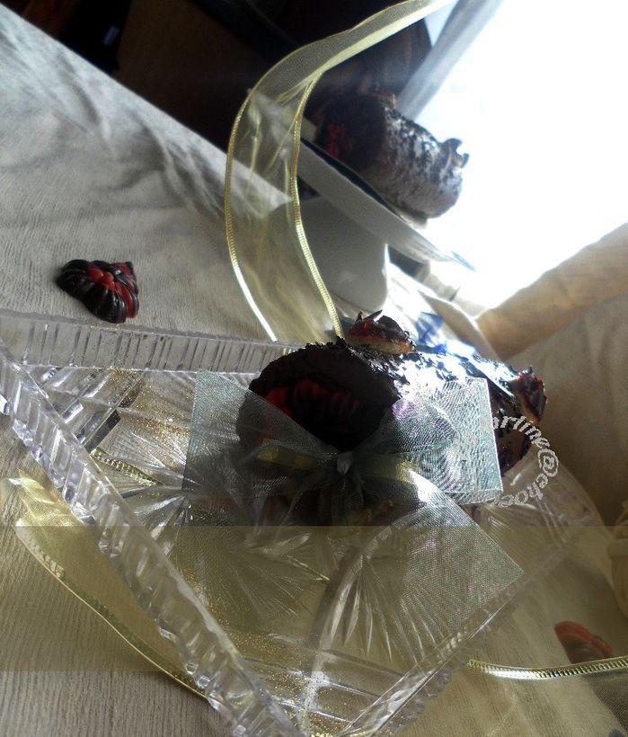 bûche chocolat noir framboise