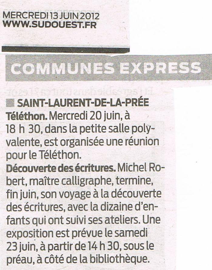 Communes express du 13 juin 2012