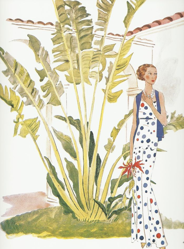 Cecil Beaton- Gertrude Lawrence, Palm Beach, 1931