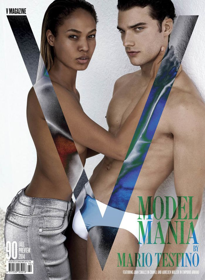 V-Magazine Joan Smalls and Aurelian Muller