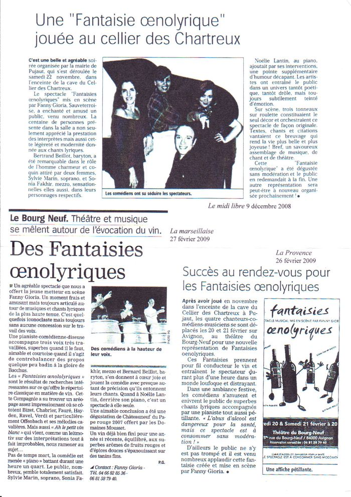 article Fantaisies Oenolyriques