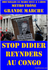AFFICHE NON DIDIER REYNDERS AU CONGO