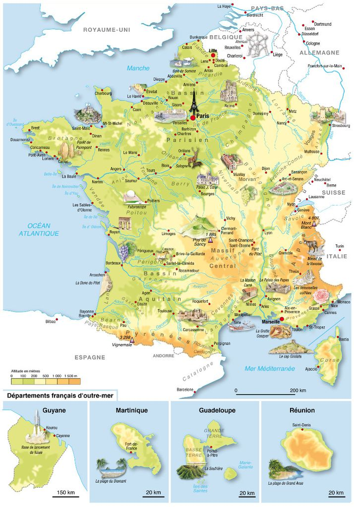 carte de france complete - Image