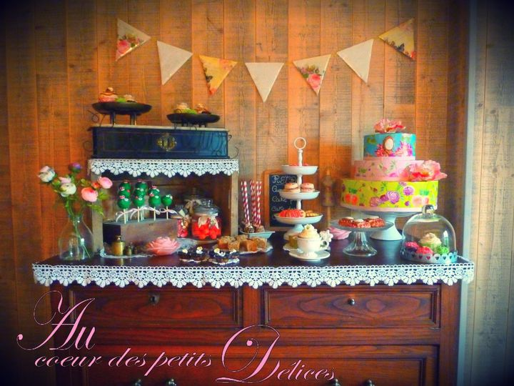 sweet Table Retro effet vintage