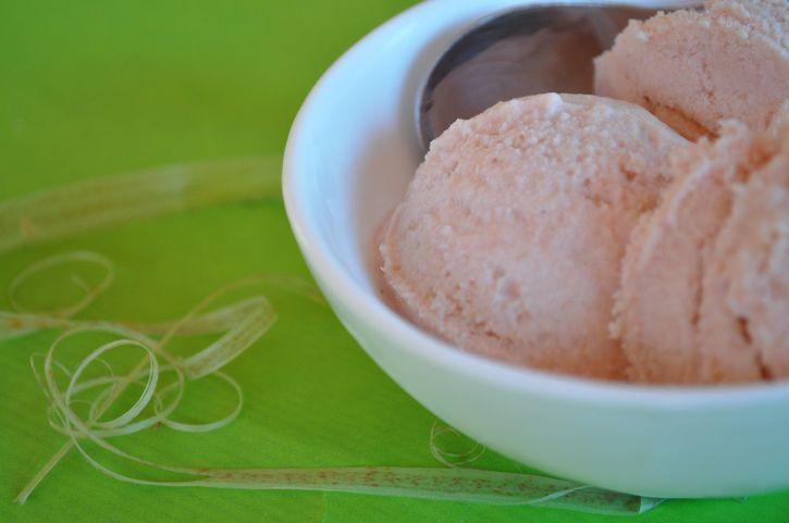 glace rhubarbe