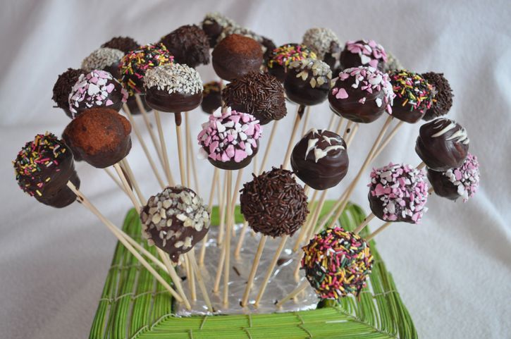 bouquet cake pop