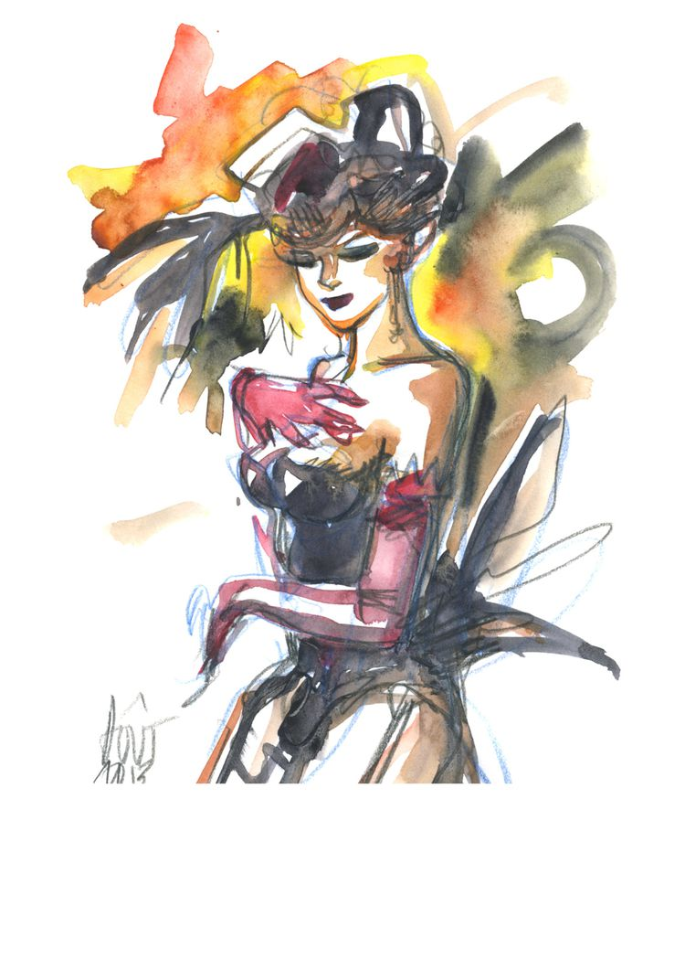 aquarelle burlesque