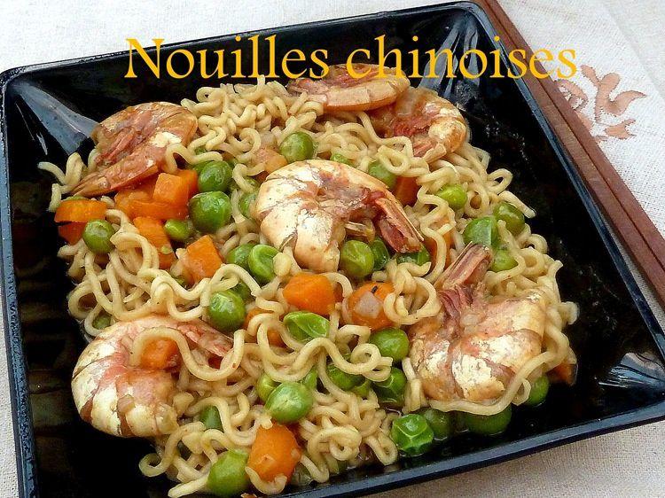 nouilles chinoises aux crevettes saut 233 de l 233 gumes le de recettes de ratiba