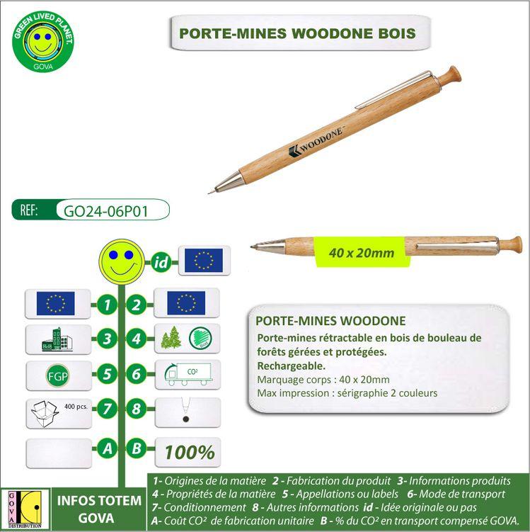 Porte Mines publicitaire WOODONE GO24 06P01