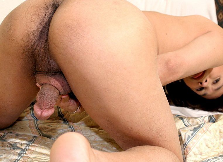 Ladyboy hairy ass