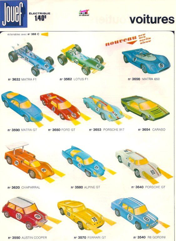 catalogue jouef voitures 1972 1973 catalogo jouef katalog jouef catalog jouef car. Black Bedroom Furniture Sets. Home Design Ideas