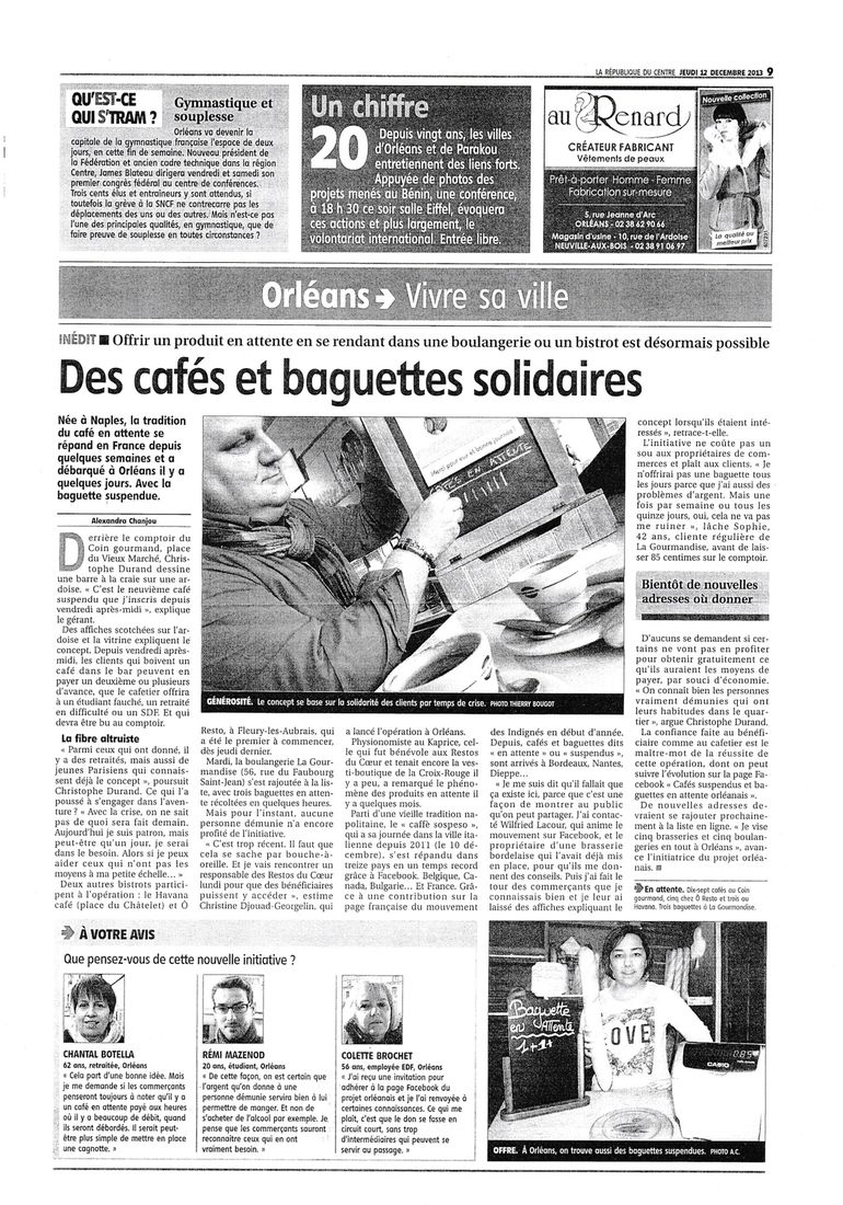 Des caf s et baguettes solidaires pop 39 n 39 blog for Garage solidaire tours