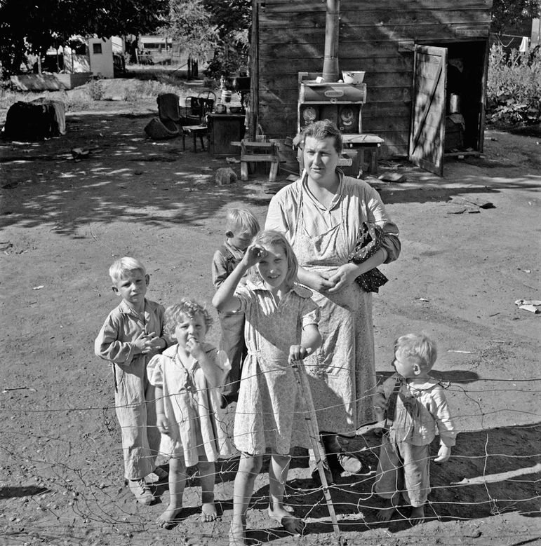 Dorothea Lange - Family living in shacktown community, most
