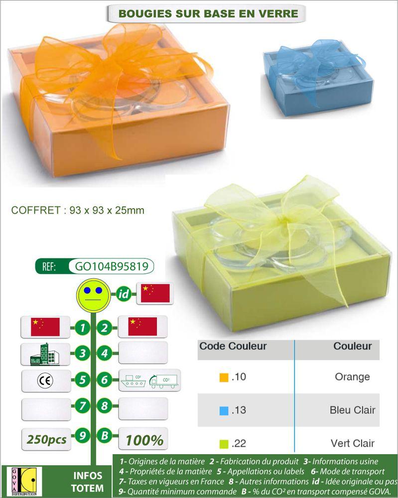 Bougies cadeaux GO104 14B95819