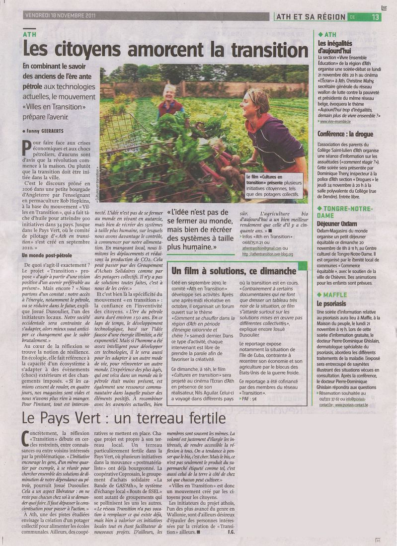 article Vers l'avenir 18112011