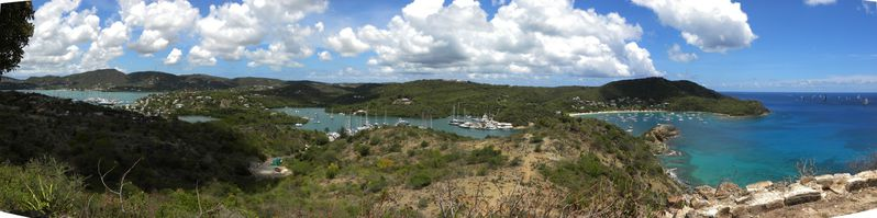 Antigua FlalmouthBay et English HArbour Pano1