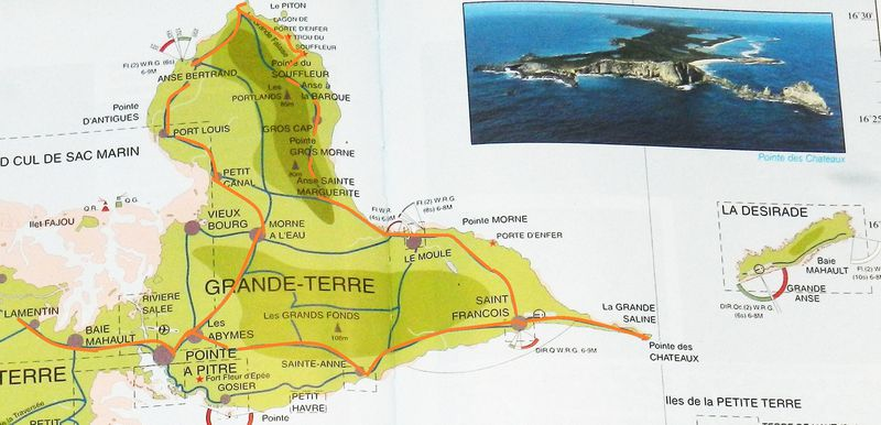 Carte Guadeloupe gdeTerre