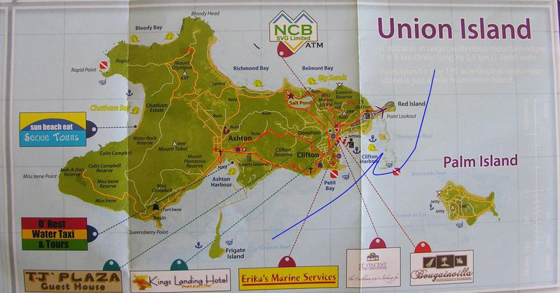 Carte Grenadines Union1