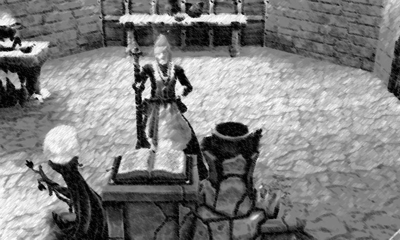 sims medieval photofarfouille photoshop fusain