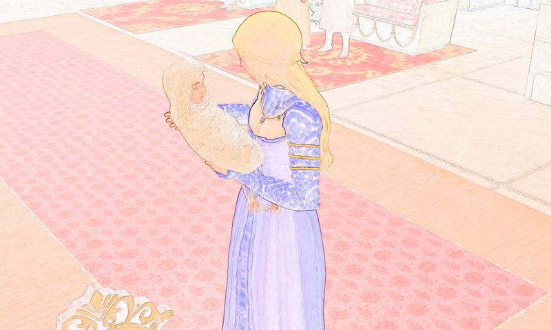 sims medieval photofarfouille variation dessin
