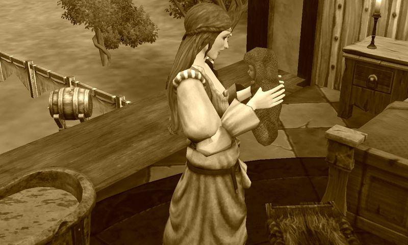 sims medieval photofarfouille sepia