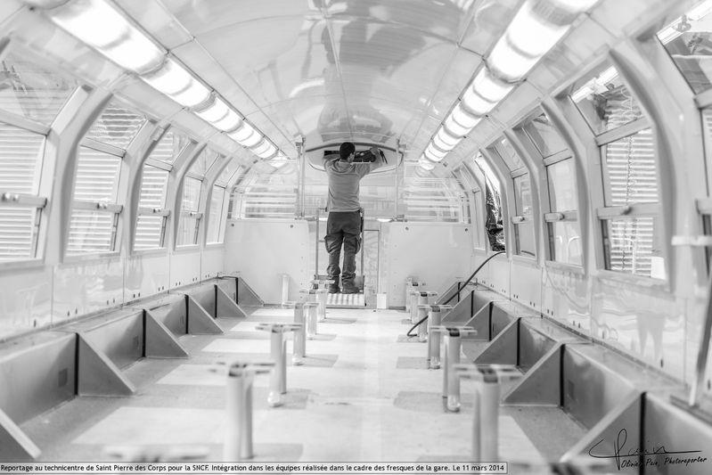Reportage pour la SNCF à Saint pierre des corps photo par Olivier Pain reporter photographe à Tours