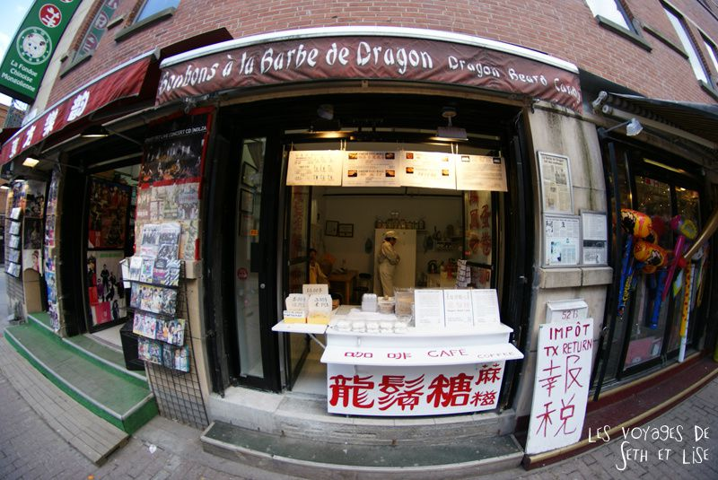 blog pvt canada montreal tour du monde voyage couple bonbon boutique chinatown barbe dragon