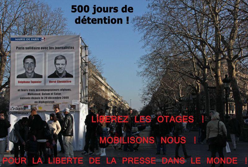 500 jours de détention