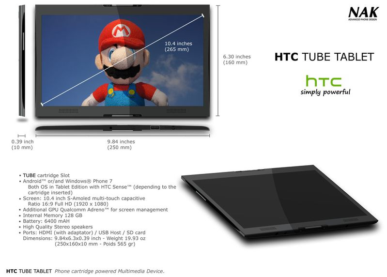 HTC TUBE TABLET 3a1280