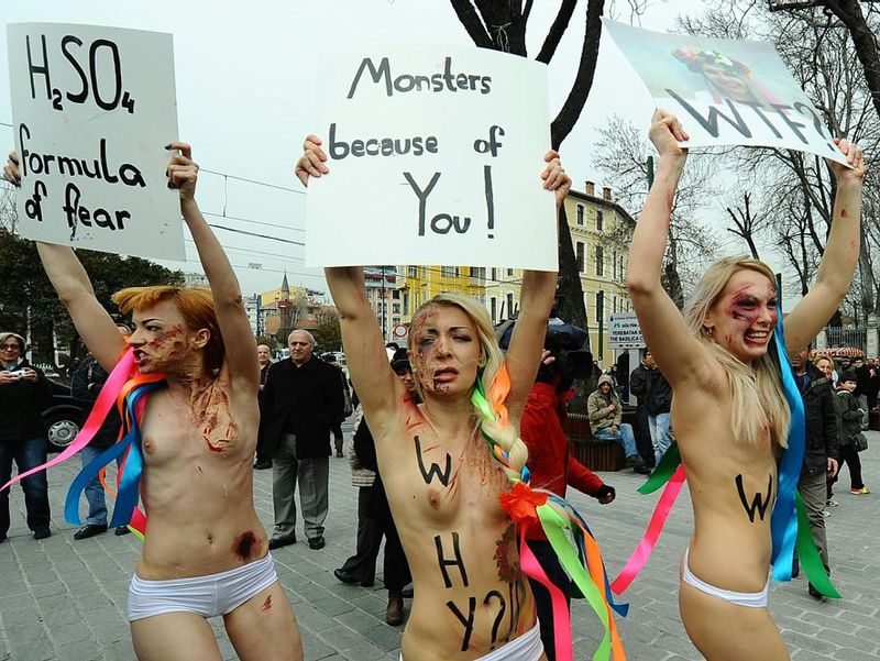 FEMEN monster