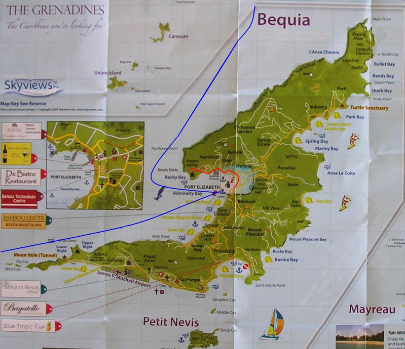 Carte Grenadines Bequia1