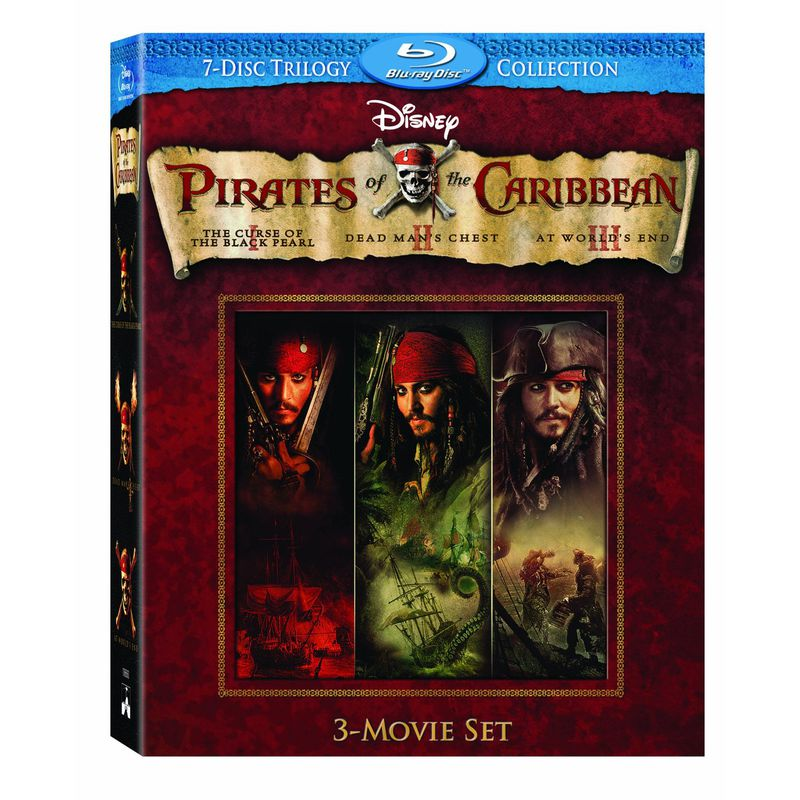 la trilogie pirates des caraibes en coffret 7blu ray. Black Bedroom Furniture Sets. Home Design Ideas