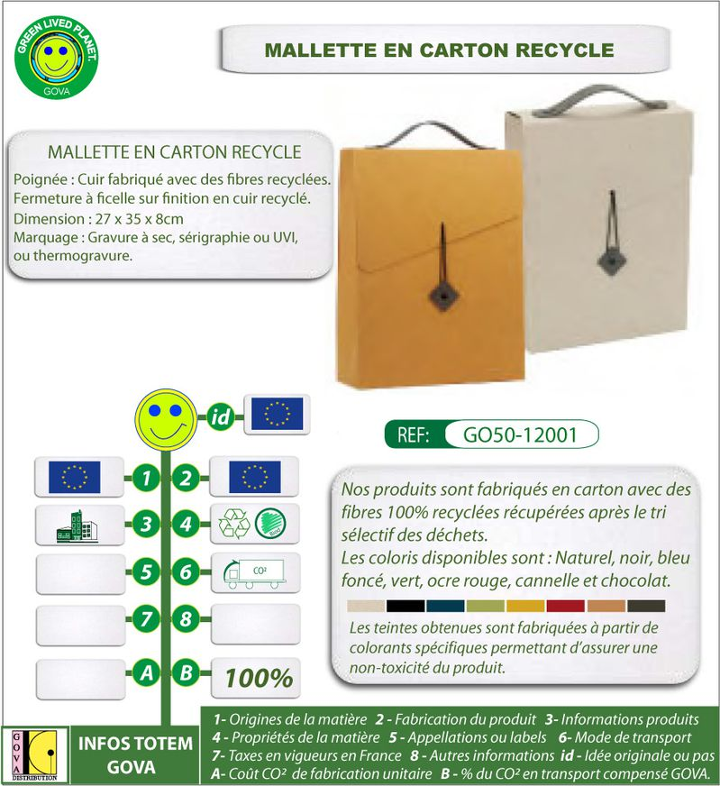 Porte document en carton ref GO50 12001